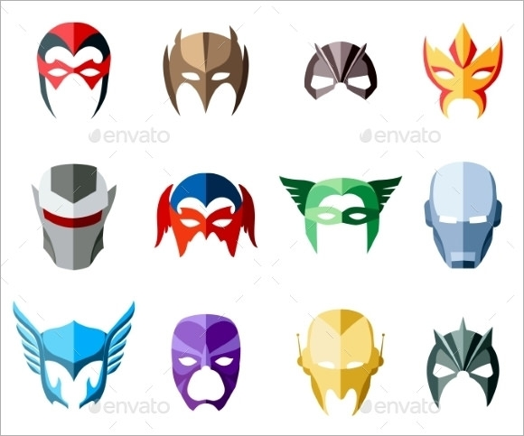 superhero mask template vector