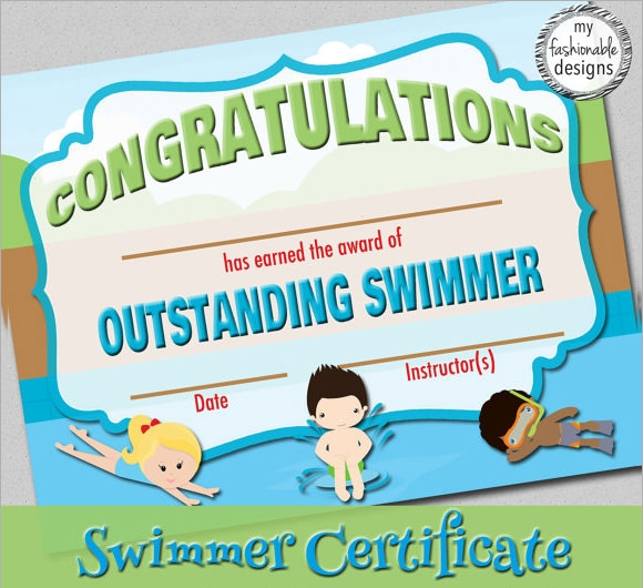 Free printable swimming certificate templates swimming certificates template 8 download documents in pdf psd yelopaper Gallery