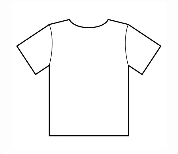 Clean image for printable t shirt template pdf