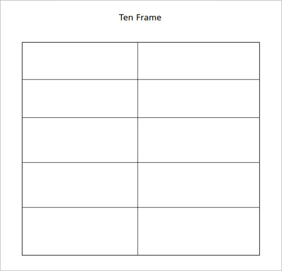 ten frame activities