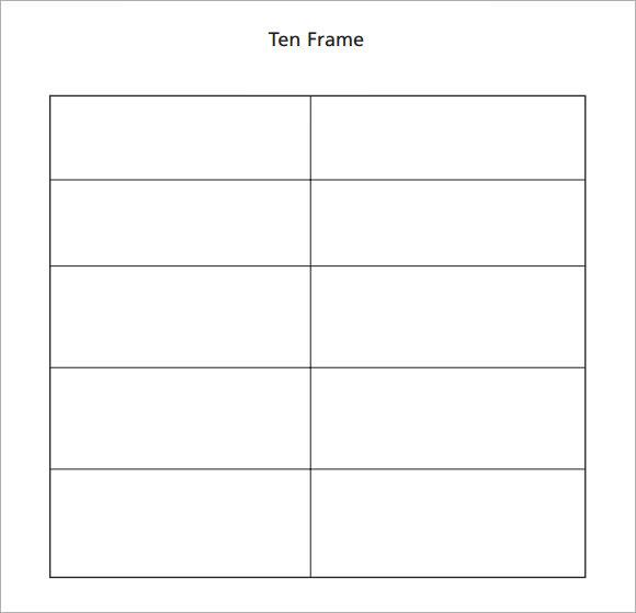Sample Ten Frame 5 Documents in PDF – Ten Frame Template