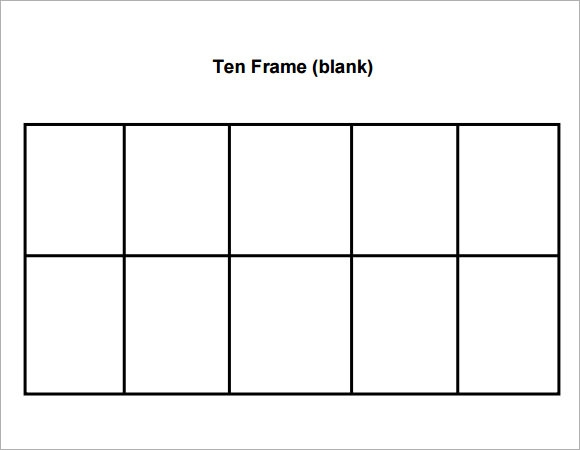 Sample Ten Frame   Documents In Pdf