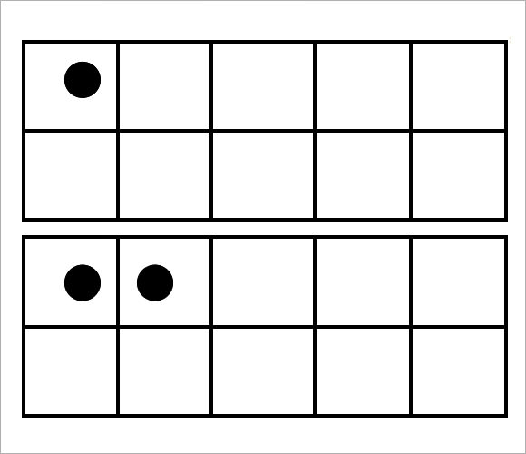 ten frame template with dots1