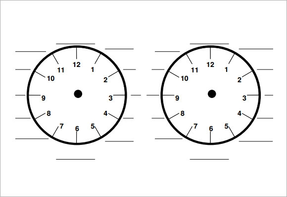 time clock template