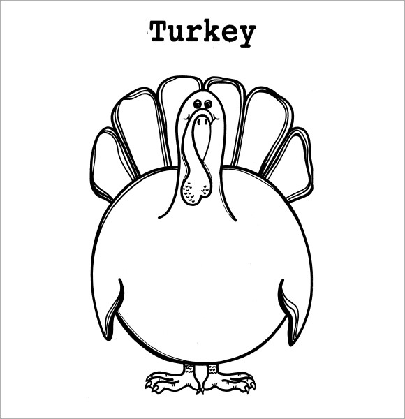 It's just a picture of Epic Turkey Outline Printable