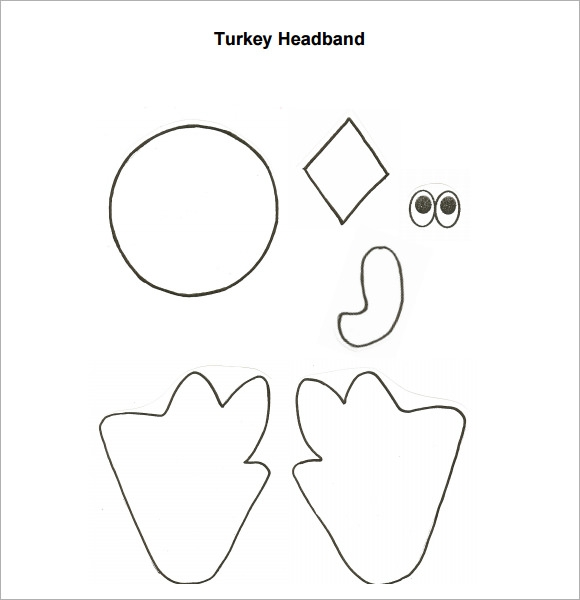 turkey template for preschool