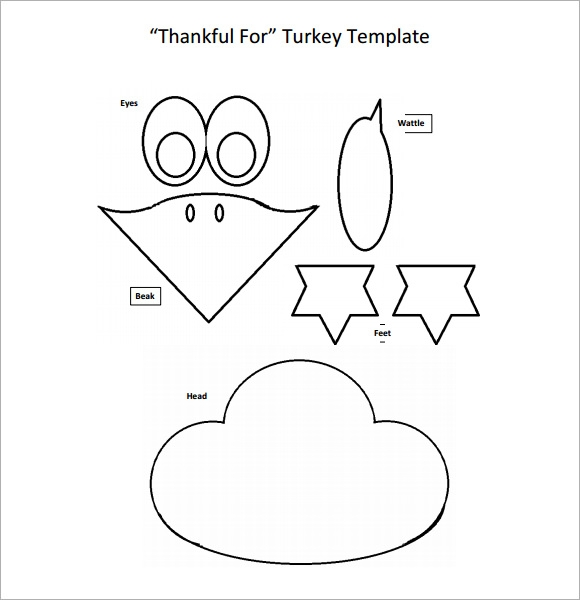 Turkey template 7 download free documents in pdf psd vector sample templates for Turkey body printable