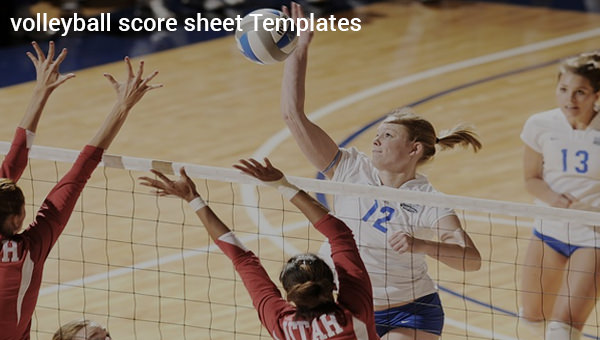 12  sample volleyball score sheets