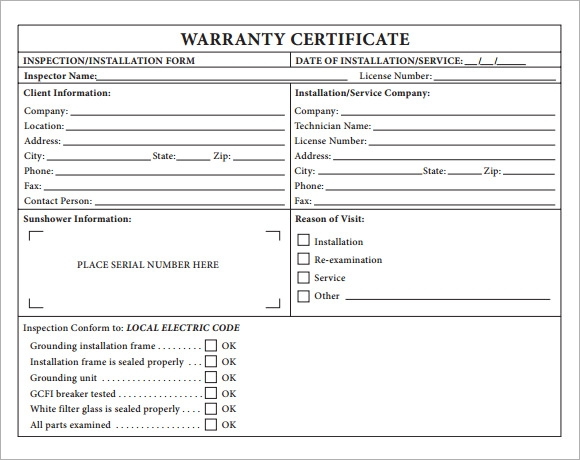 Warranty Certificate Template 7 Download Free Documents in PDF PSD – Certificate Templates for Word