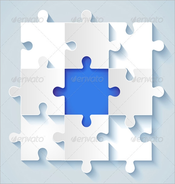 white puzzle piece template2