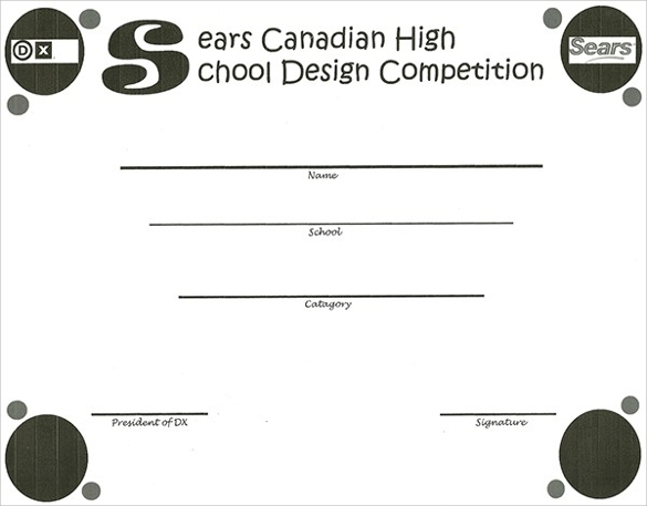 school competition certificates template