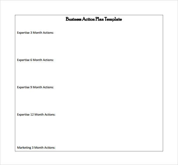 fingerprint template sample - business action plan template 5 download free documents