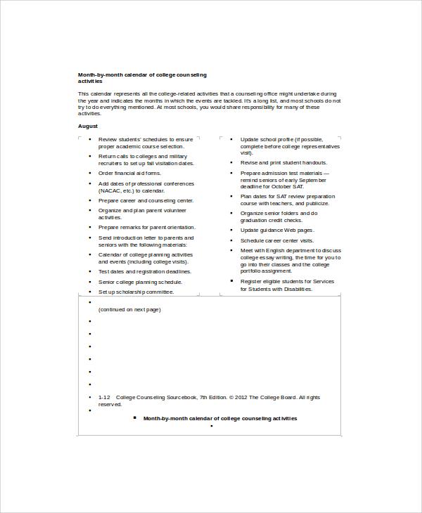 9  calendar timeline samples