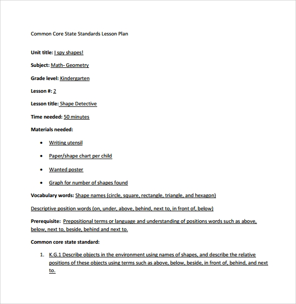Lesson Plan Template Using Common Standards Images Best - Lesson plan template using common core standards