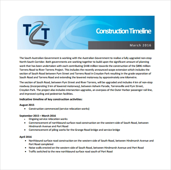 construction timeline sample %ef%bb%bf