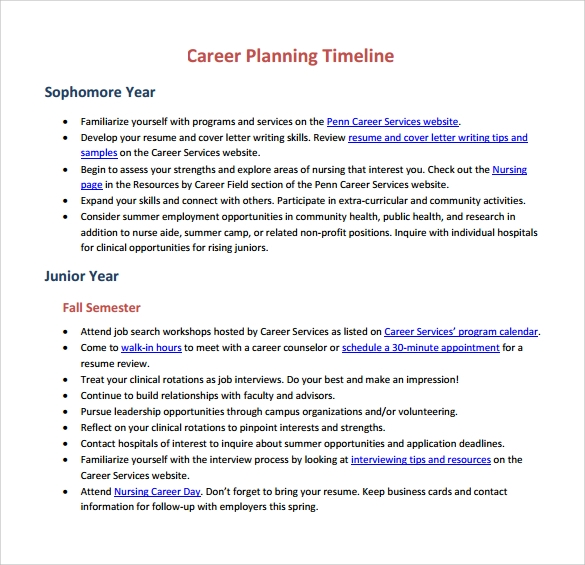 Sample Career Timeline Template - 15+ Free Documents In Pdf, Psd