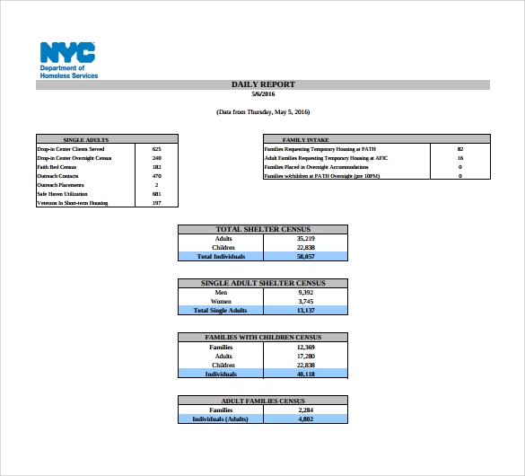 sample daily report template1