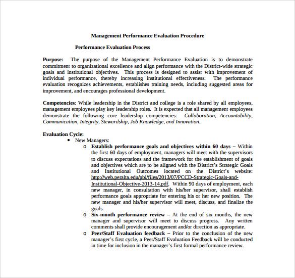 management performance evaluation procedure %ef%bb%bf
