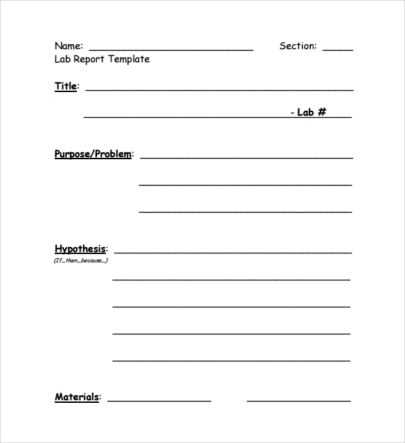 lab report template The lab report performance task guide is designed to support students in  writing a formal lab report that communicates all aspects of a student-designed.