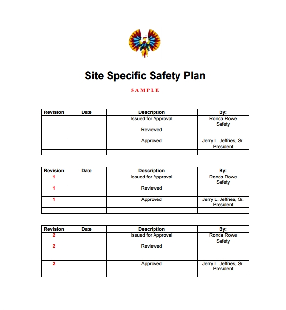 Site Plan Example: Sample Safety Plan Template