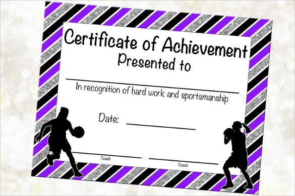 Certificate Of Achievement Template  Sample Example Format