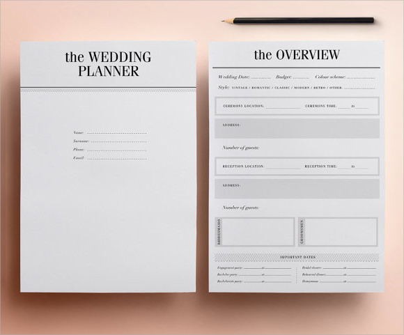 wedding planner printable1