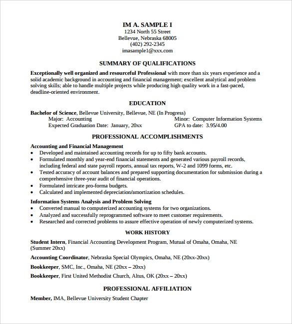 10 professional resume templates  u2013 free samples  examples