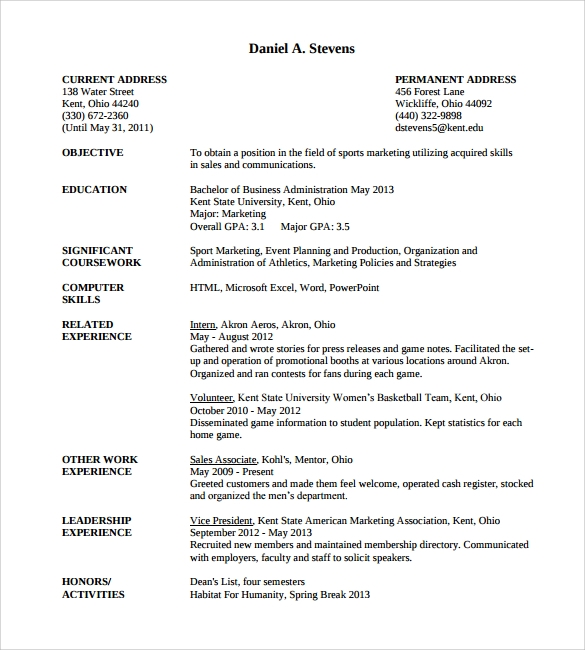 Professional Resume – 9+ Free Samples, Examples, Format