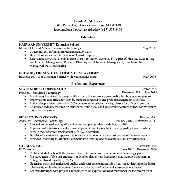 professional cv for free download