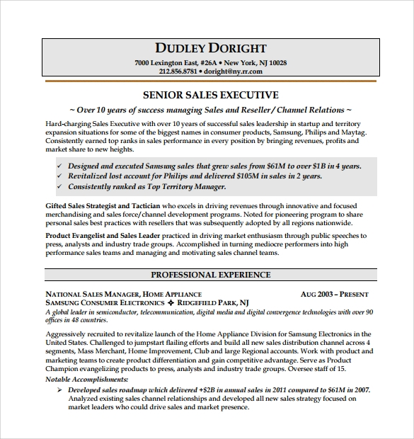 sales resume  u2013 9  free samples  examples  format
