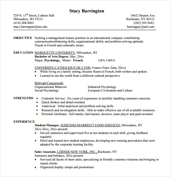 customer service resume pdf