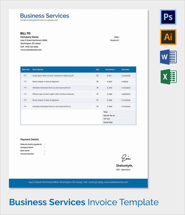 Invoice Templates  Free Sample Example Format