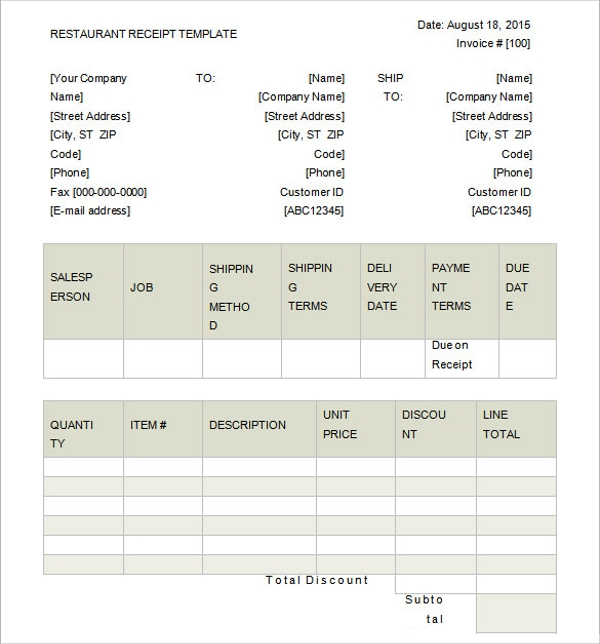Doc707647 Sample Official Receipt Template official receipt – Official Receipt Sample
