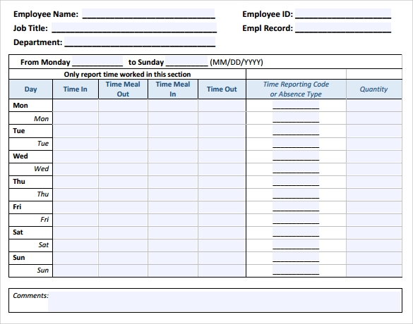 download timesheet template