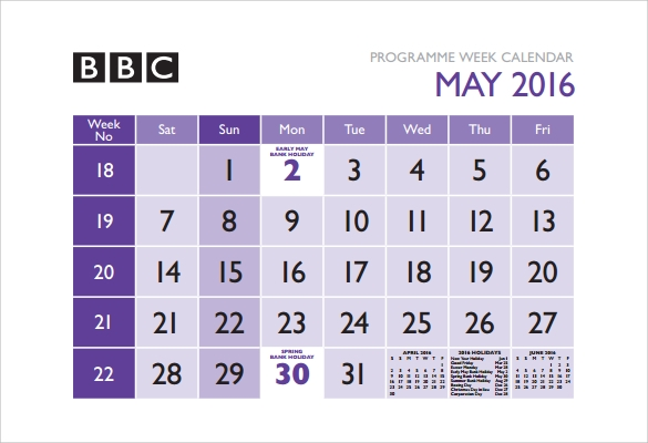 weekly calendar program free