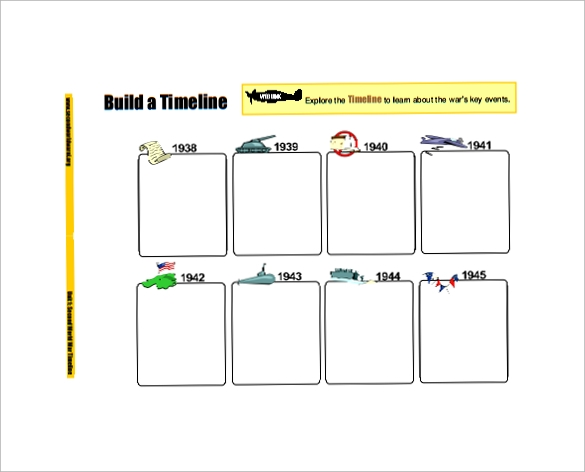 blank timeline template for kids4