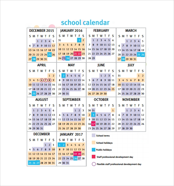 Calendar Qld Template : School calendar free samples examples format