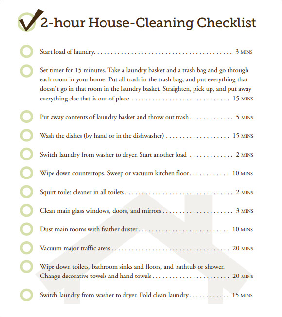 Daily House Cleaning Checklist