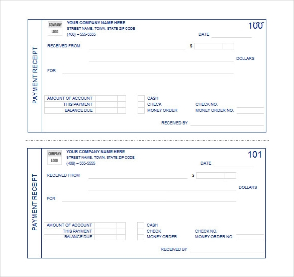 8 Sample Receipt Templates Free Samples Examples Format – Sample Payment Receipts