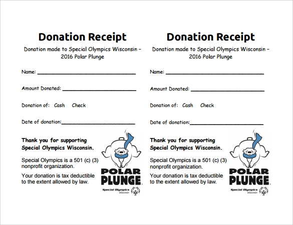 9 Donation Receipt Templates Free Samples Examples Format – Receipt Examples
