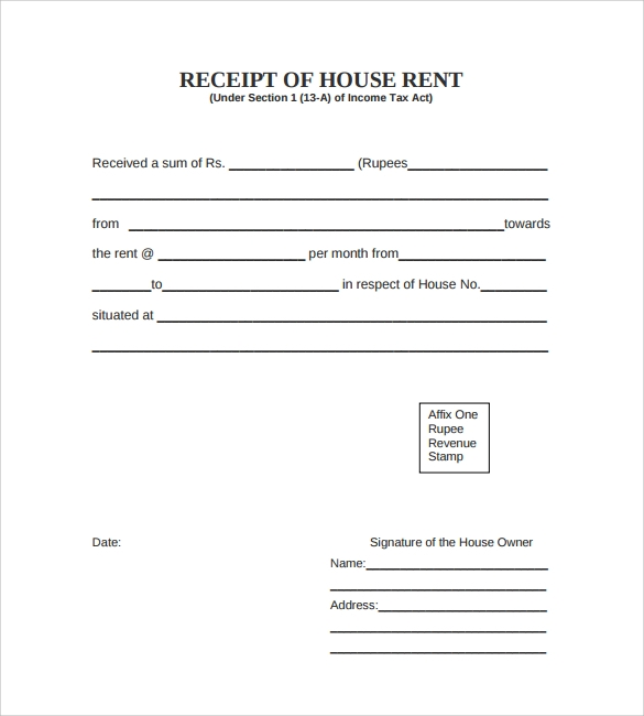 receipt forms free download