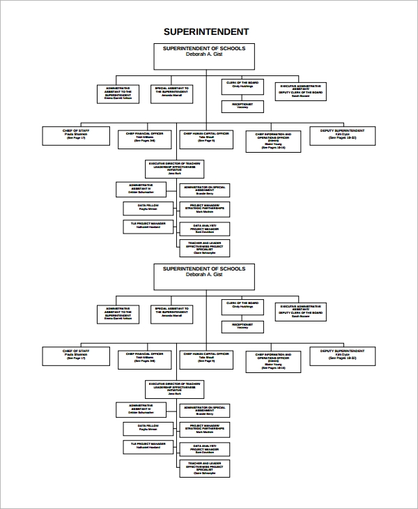 organizational flow chart template