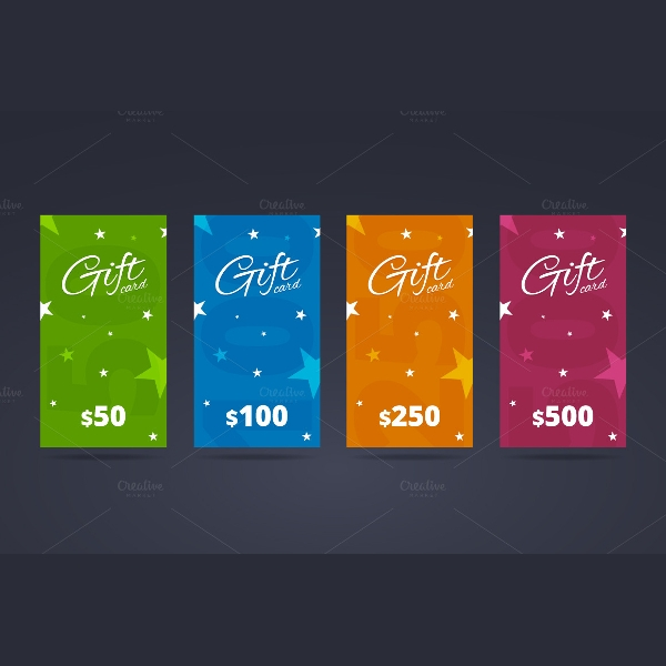 gift card template with calligraphic font
