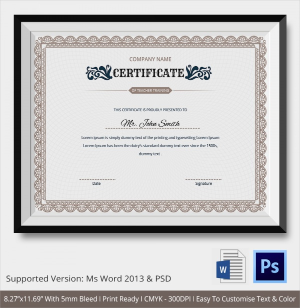 23 training certificate templates samples examples for Honorable mention certificate template