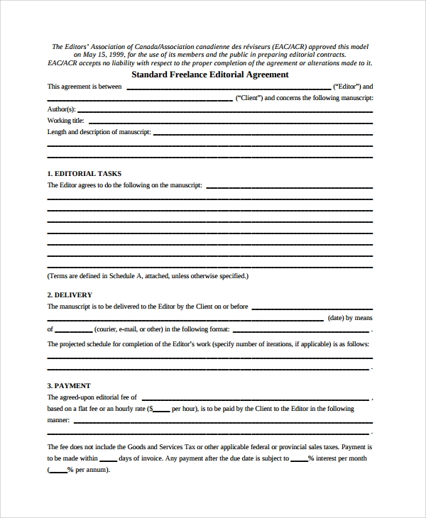 Sample Independent Contractor Agreement   Documents In Pdf Word