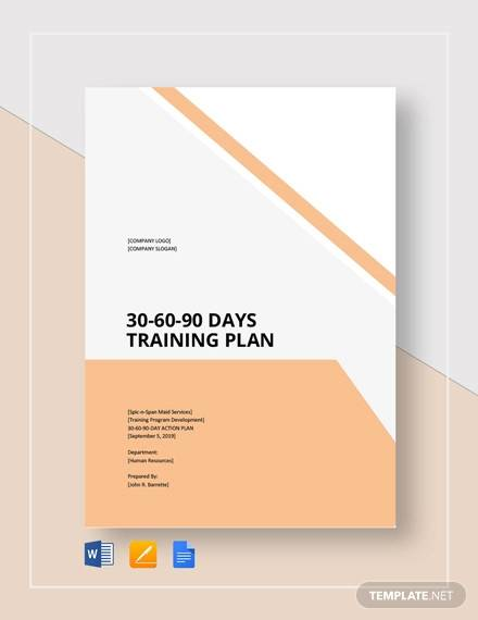 30 60 90 day training plan template