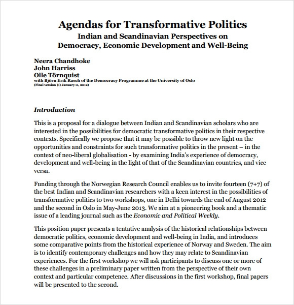agendas for transformative politics