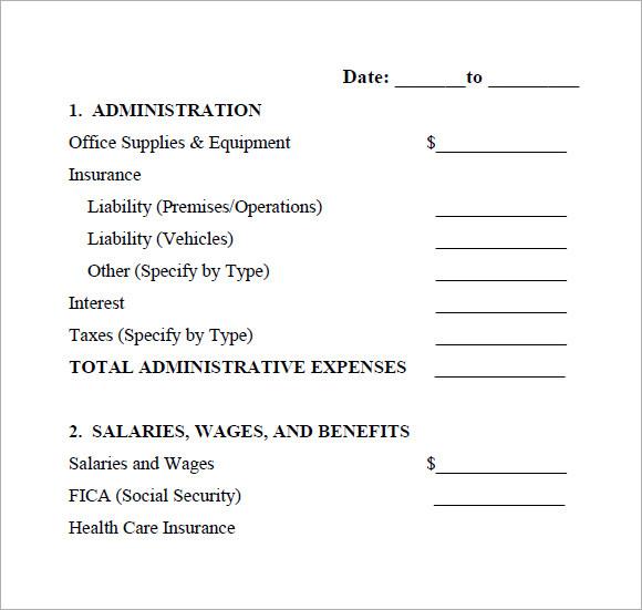 annual operating statement pdf