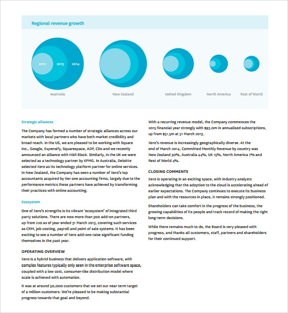 annual report template sample