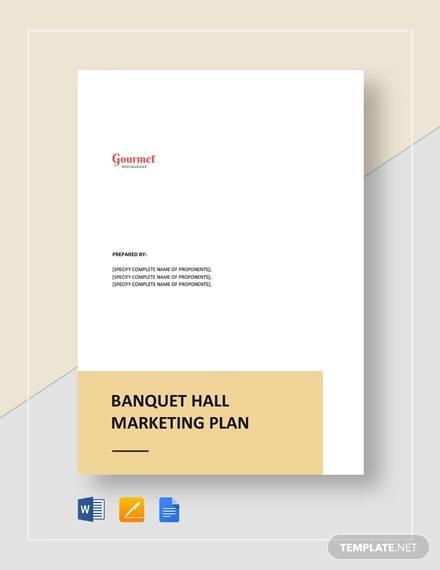 banquet hall marketing plan template
